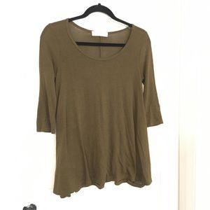 Urban outfitters A-line olive green flowey top